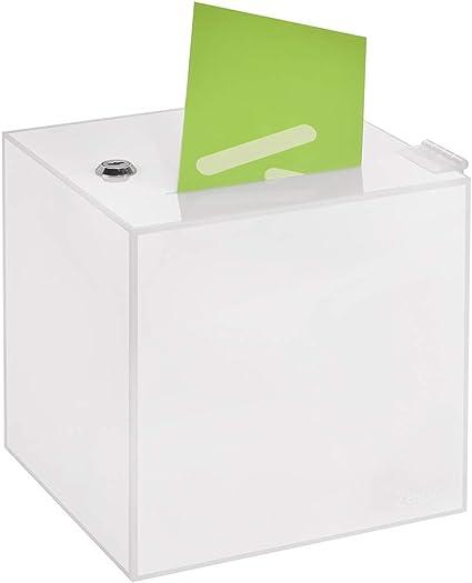Votaciones en 200 x 200 x 200 mm, de acrílico opaco – zeigis®/Dona Caja/caja /sorteo bicicletaDerbystar parte Caja/opaco/opaca/acrílico/Plexiglas/abschließbar/versperrbar: Amazon.es: Oficina y papelería