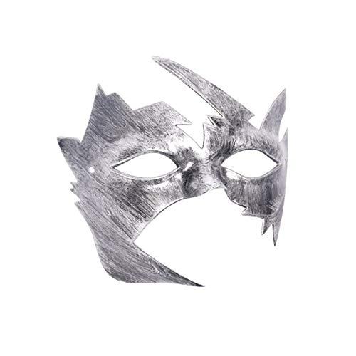(Mask Party - Men Burnished Antique Silver Gold Venetian Mardi Gras Masquerade Party Ball Mask 2019 - Pink Prime Boys Spiderman Craft Music Rose Wear Daughter Navy Gold Animal Metal Dark De)