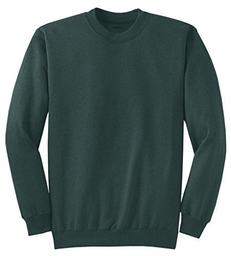 Green Fleece Crewneck Sweatshirt - Joe's USA tm Adult Classic Crewneck Sweatshirt, L -DarkGreen
