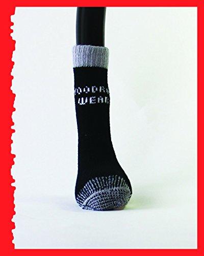 Woodrow Wear, Power Paws Greyhound Edition Reinforced Foot, Black/Grey, M, Fits 40-70 pounds by Woodrow Wear