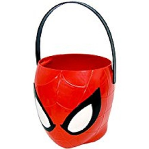 Spiderman - Figural Plastic Pail - Children Candy, Halloween Trick or Treat