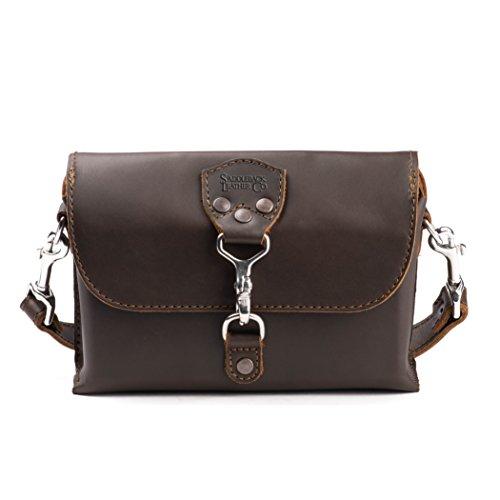 Saddleback Leather Clutch Purse Medium Dark Coffee Brown