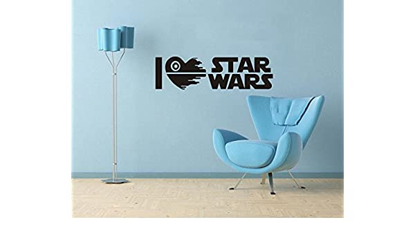 I Love Star Wars pared cita Arte letras de vinilo Adhesivos Decor ...