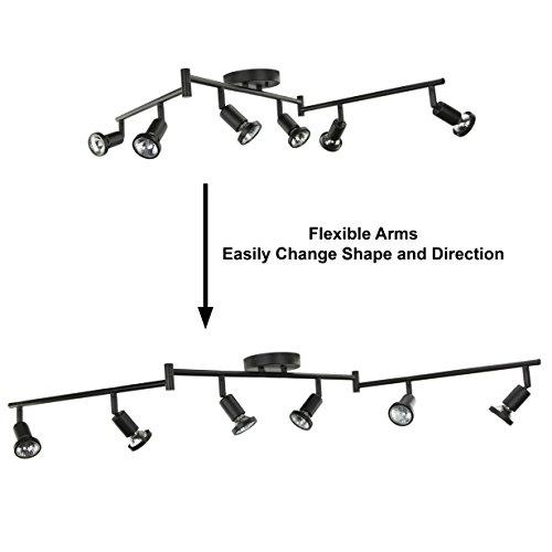 Movable Led Track Lighting: DnD 6 Lights Adjustable Track Lighting Kit