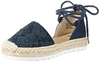 tom tailor 2796903 women 39 s espadrilles blue navy 7 5 uk 41 eu shoes bags. Black Bedroom Furniture Sets. Home Design Ideas