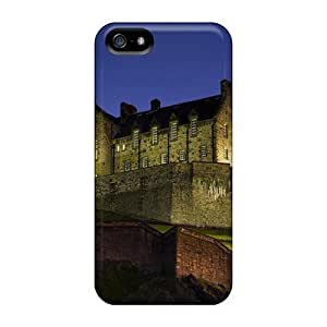 New Snap-on StarFisher Skin Case Cover Compatible With Iphone 5/5s- Edinburgh Castle At Night Scotl