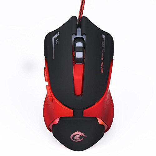 Xusun Game Hot 6D LED Attractive Optical USB Wired 3200 DPI Pro Gaming Mouse For Laptop PC Game (Casio Piano Keyboard Power Cord)