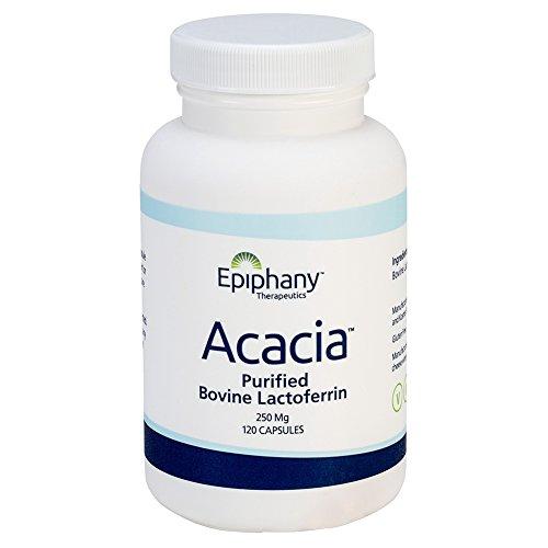 Acacia Purified Bovine Lactoferrin 250 mg Capsules, Quantity 120 Capsules per Bottle by Epiphany Therapeutics