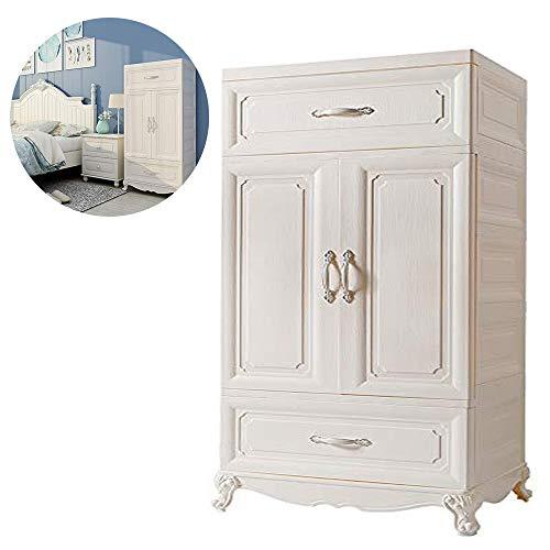 Nafenai Storage 2 Cabinet with Doors for Kid's Room Bedroom Home Office Nursery (1) - Door 2 Drawer 2 Wardrobe