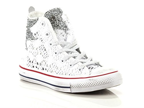 Sneakers Crochet High all Converse Ltd Alte Star Tessuto Bianco Donna I0IUx