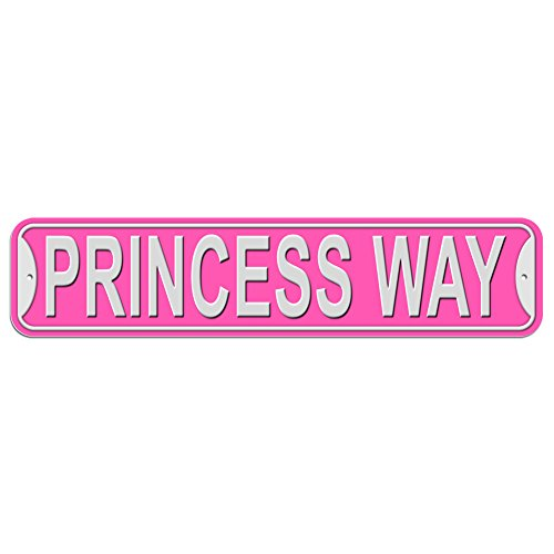 Princess Way Sign - Plastic Wall Door Street Road Female Name - Pink (Sign Way Street)