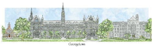 Georgetown University - Collegiate Sculptured Ornament by Sculptured Watercolor Ornaments