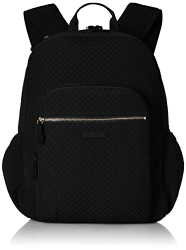 - Vera Bradley Iconic Campus Backpack, Microfiber, Classic Black