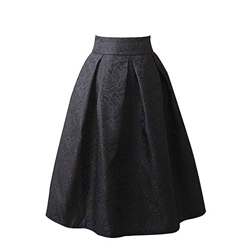 - Dress for Women, Botrong Vintage Printing Dress Knee Length High Waist Pleated Dress Party Dress
