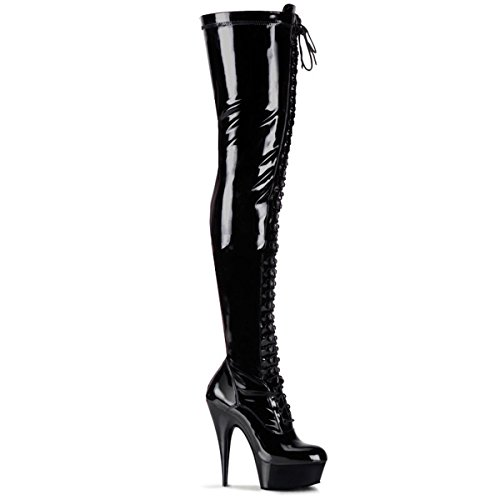 Pleaser Delight-3023 - sexy plateau talon hauts chaussures femmes cuissardes bottes 36-45