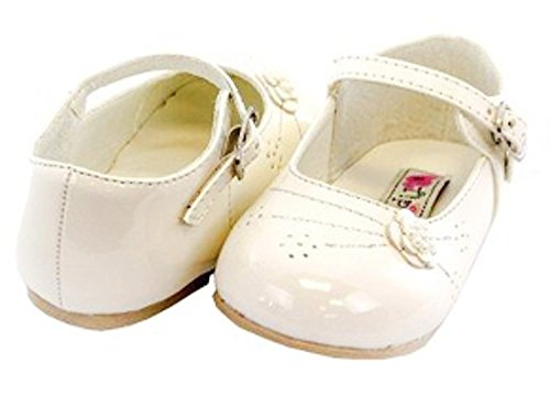 infant size 4 ivory dress shoes - 1