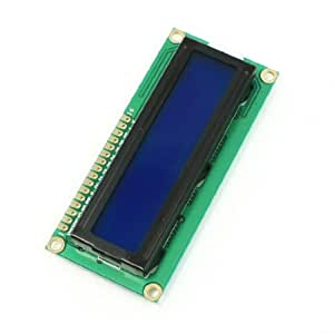 uxcell DC 5V Standard 16 x 2 Character Blue Backlight LCD Display Module Black Green