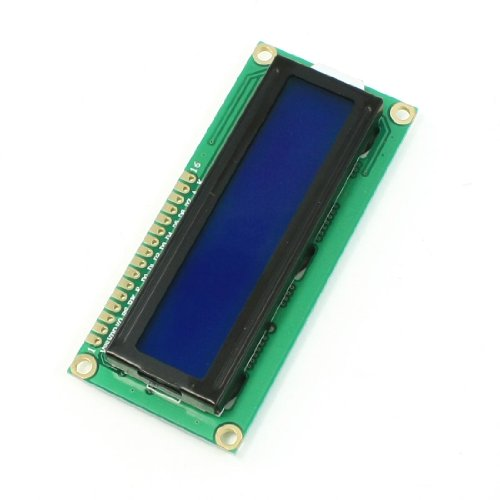 (uxcell DC 5V Standard 16 x 2 Character Blue Backlight LCD Display Module Black Green)