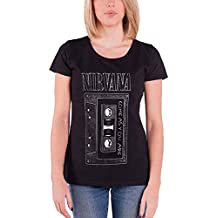 Nirvana T Shirt As You are Band Logo Official Womens Junior Fit Black