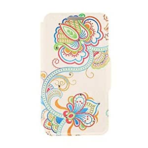 DUR Kinston Art Flower Vine Diamond Paste Pattern PU Leather Cover for iPhone 6 Case 4.7 inch