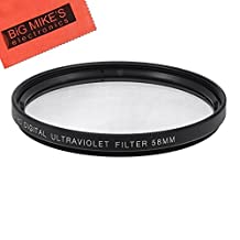 58mm Multi-Coated UV Protective Filter For Canon Digital EOS Rebel T4i, T3, T3i, T1i, T2i, XSI, XS, XTI, EOS60D, EOS70D, 50D, 40D, 30D, EOS 5D, EOS6D, EOS5D Mark 2, EOS D Digital SLR Cameras Which Has Any Of These (18-55mm, 55-250mm, 55-250mm, 18-250mm, 18-250mm, 75-300mm, 50mm 1.4 , 55-200mm. 70-300mm) Canon Lenses + More!!