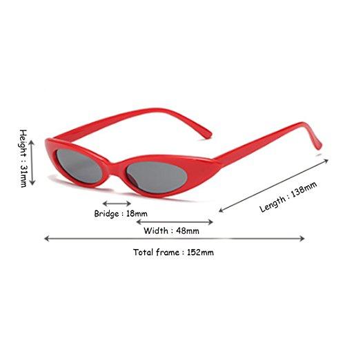 Gris Dintang Vintage Rouge Cat Designer et et soleil soleil ovales de femmes Hommes Petites Eye Lunettes de lunettes BnBrT8xwq1