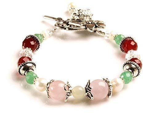 Sweet Pea Fertility and Pregnancy Bracelet featuring Gemstones Rose Quartz, Moonstone, Green Aventurine, Carnelian, Freshwater Pearls. ()