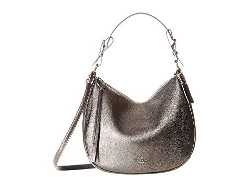 COACH Women's Metallic Leather Sutton Hobo Gunmetal/Metallic Graphite One ()