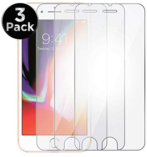 Aduro Screen Protector for iPhone 8/7/6/6s 4.7-inch (NOT Plus), Tempered Glass Shatter Proof Film, 3-Pack