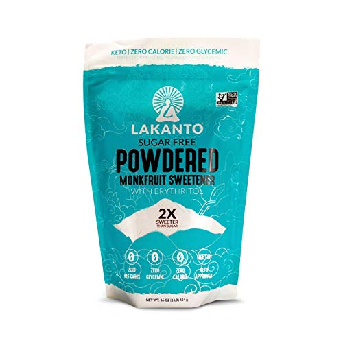 Lakanto Monkfruit Sweetener, 2:1 Powdered Sugar Substitute, Keto, Non-GMO (16 -