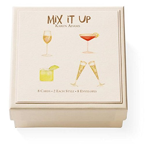 Karen Adams Mix It Up Gift Enclosure Box of 8 Assorted Cards with Envelopes