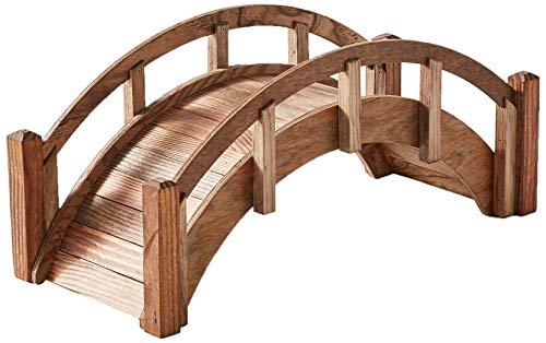- SamsGazebos Miniature Japanese Wood Garden Bridge, Treated, Assembled, 25
