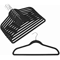 Velvet Coat Hangers - Velvet Suit Hangers (100-pack) Non-Slip Space Saving Chrome Metal Hook Strong and Durable Clothes Hangers Hold Up-To 10 Lbs, for Coats, Jackets, Pants, and Dress Clothes