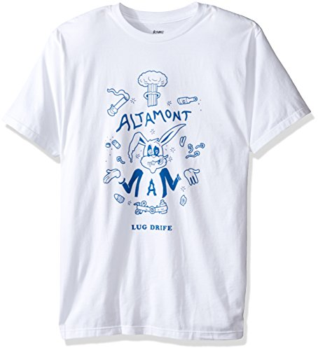 Altamont Tee (ALTAMONT Men's Lug Drife T-Shirt, White, Medium)