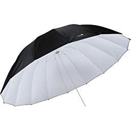 Impact 7\' Parabolic Umbrella (White/Black)