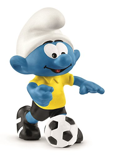 Figurine Smurfs (Schleich Soccer Smurf with Ball Toy Figurine)