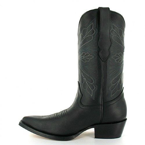 A In Nero Marrone Smerigliatrici Donne Bianco Pelle Occidentali Dallas Metà Polpaccio Delle Cowboy Classico E Da Stivali UEqTnqRwx