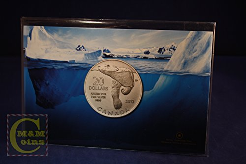 Canada $20 for $20 Pure Silver Commemorative Coin - Polar Bear (2012) (Commemorative Royal Coins Mint)