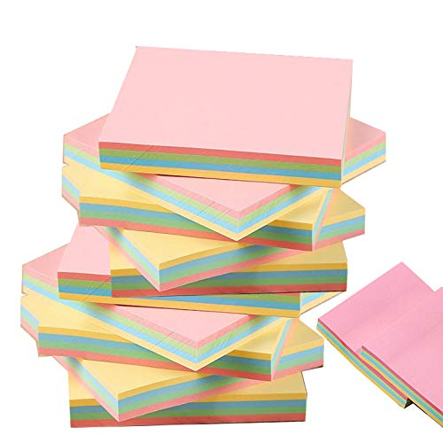 Sticky Notes, 12 Pads 3x3 Inch Self-Stick Notes, 100 Sheets/Pad,4 Candy Colors, Easy to Post for Home, Office, School,Notebook ()