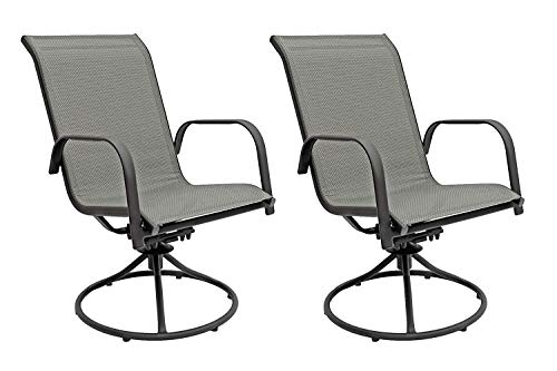 Patio Master Corporation Sienna Swivel Rocker (Set of 2) (Gray) (Outdoor Chairs Swivel)