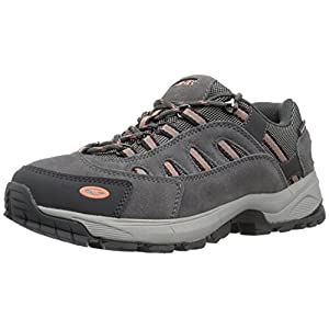Hi-Tec Women's Bandera Ultra Low Waterproof Backpacking Boot, Steel Grey/Grey/Papaya Punch, 9 M US