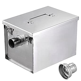 Grease Trap For Sale >> Yescom 8lbs 5gpm Gallon Per Minute Stainless Steel Grease Trap Interceptor