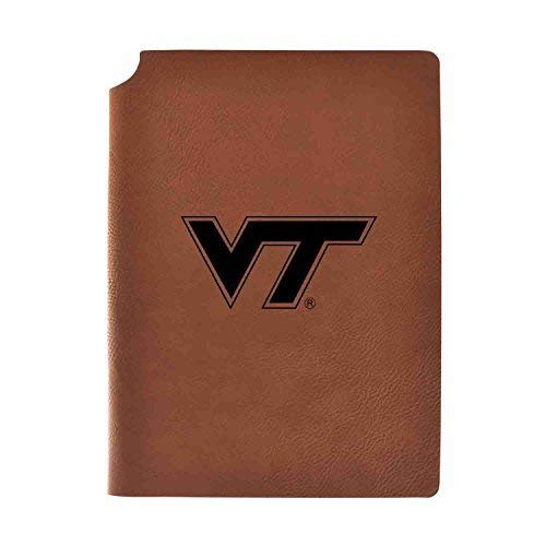 (Virginia Tech Velour Journal with Pen Holder|Carbon Etched|Officially Licensed Collegiate Journal|)