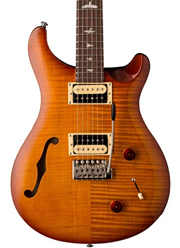 PRS Paul Reed Smith SE Custom 22 Semi-Hollow Electric Guitar with Gig Bag, Vintage Sunburst