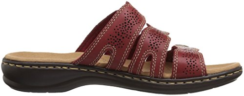 CLARKS Women's Leisa Grace Platform Red Leather clearance outlet discount ebay outlet fashion Style UVLrA