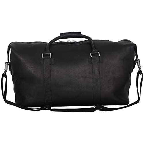 "41MzWBUTn9L - Kenneth Cole Reaction I Beg to Duff-er' Full-Grain Colombian Leather Top Zip 20"" Carry-On Duffel Travel Bag, Black"