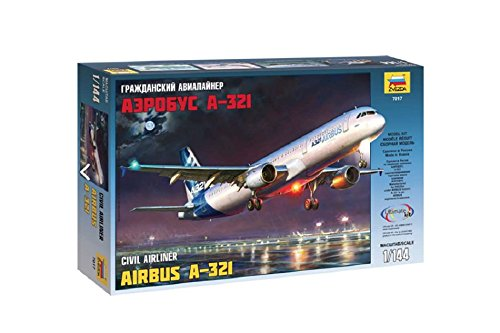 Airbus A320 Model Airplane - Zvezda Models 1/144 Airbus A-321 Model Kit