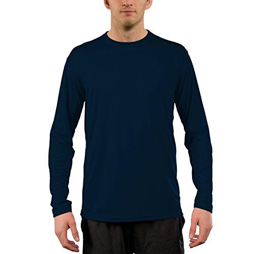 Vapor Apparel Men's UPF 50+ UV Sun Protection Performance Long Sleeve T-Shirt Medium Navy