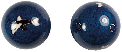 Meditation Qi-Gong-Kugeln mit Klangwerk   Klangkugeln   Yin Yang   Design Delfin   verschiedene Durchmesser (Ø 35 mm)