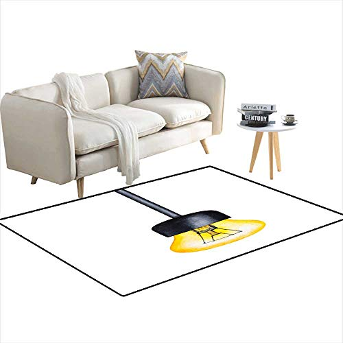 Extra Large Area Rug One Light Pendant Illustration Warm Yellow Glowing Bulb on Black Cable Vintage Look Nostalgic Vibe Industrial Style 3'x10' - 3 Wright Pendant Light